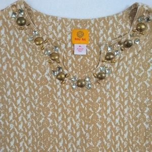 Ruby Rd. Tops - Ruby Rd. Beaded Neckline Blouse Top